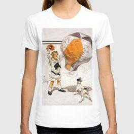 12,000pixel-500dpi - Joseph Christian Leyendecker - Boy And Dog And A Balloon T-shirt