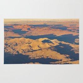 Andes Mountains Desert Aerial Landscape Scene Rug
