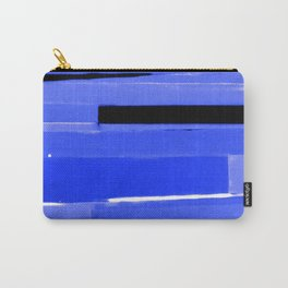 Indigo Monochromatic with Lavender Tones Carry-All Pouch