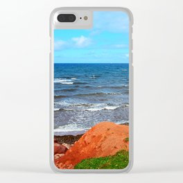 Rolling Waves in East Point PEI Clear iPhone Case