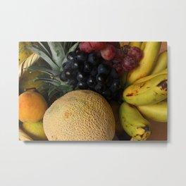 Fresh Fruit Basket Metal Print