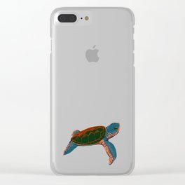 Cute turtle Clear iPhone Case