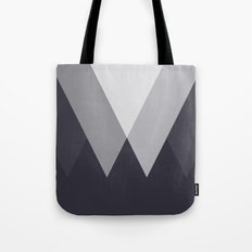 Sawtooth Inverted Blue Grey Tote Bag