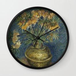 Vincent Van Gogh - Imperial Fritillaries in a Copper Vase Wall Clock