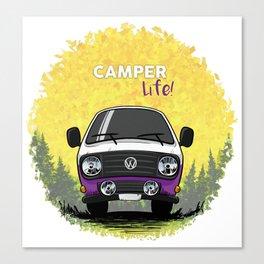 T3 Camper Life Violeta Canvas Print