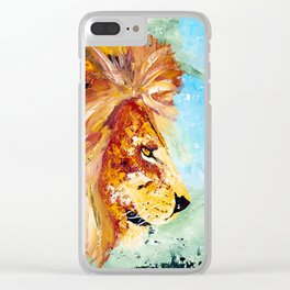 The Lion and the Rat - Animal - by LiliFlore Clear iPhone Case