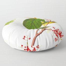 Pine Swamp Warbler Bird Floor Pillow