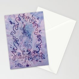 The Flame (Purple Texture) Stationery Cards