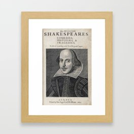 William Shakespeare Portrait Framed Art Print