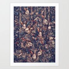 Bunnerflies Art Print