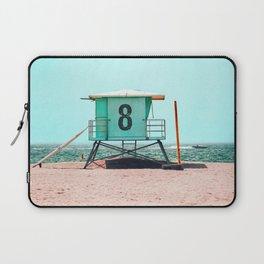 California Lifeguard Tower Laptop Sleeve