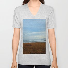 Living at the Edge of the Sea Unisex V-Neck