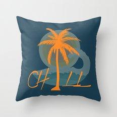 Chill, Summer Throw Pillow
