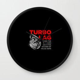 Funny Turbo Lag Car Boost Racing Wall Clock