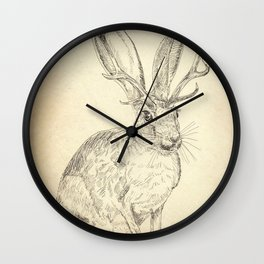 Jackalope Wall Clock