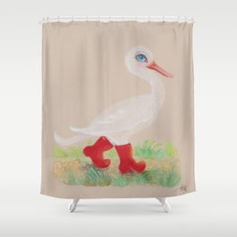 a Snozzleberry Swan excursion Shower Curtain