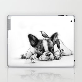 Frenchie and the Birds Laptop & iPad Skin