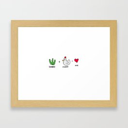 Seaweed Chicken  Framed Art Print