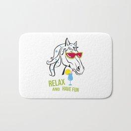 Funny horse Bath Mat