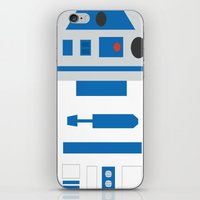r2d2 iPhone & iPod Skins featuring r2d2 by heartfeltdesigns by Telahmarie