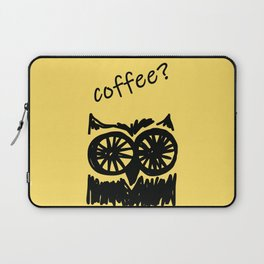 Coffee? Morning owl print Laptop Sleeve