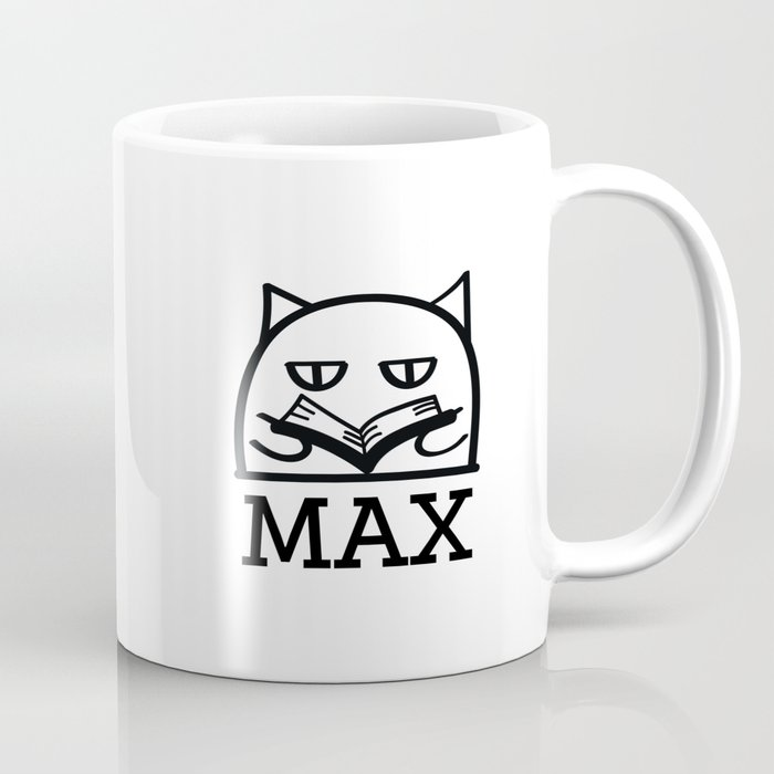 Max can read. Coffee Mug