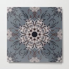 Wood and Sky - Mosaic Metal Print