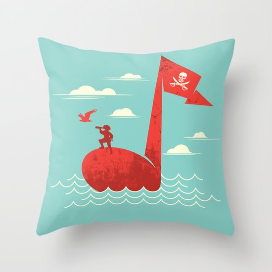 the pirate's song Throw Pillow