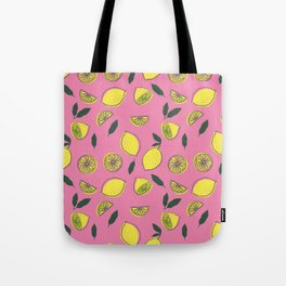Pink Lemonade Pattern Tote Bag