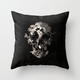 Spring Skull Monochrome Throw Pillow