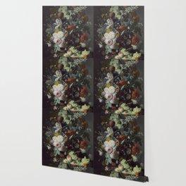 Jan van Huysum Still Life with Flowers and Fruit Wallpaper