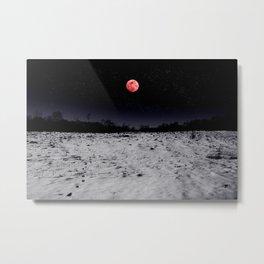 Red-lit Night Metal Print