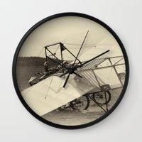 airplane Wall Clocks featuring Airplane by DistinctyDesign