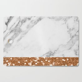 Marble and brass glitter Cutting Board