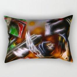 Boba Fett Vs Predator - Doc Braham - All Rights Reserved Rectangular Pillow