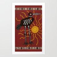 sun crane Art Print