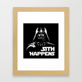 Sith Happens Framed Art Print