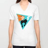 sagittarius V-neck T-shirts featuring Sagittarius by tuditees