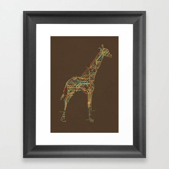Electric Giraffe Framed Art Print