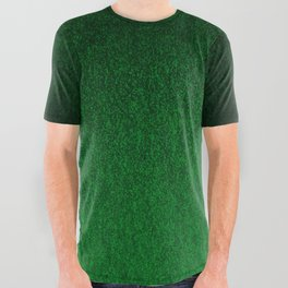Emerald Green Ombre Design All Over Graphic Tee