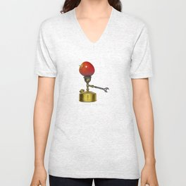 stove and apple. good old days. Unisex V-Neck