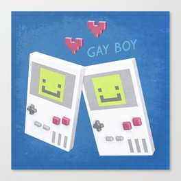 Game Boy Gay Boy Canvas Print