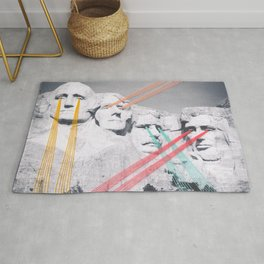Embroidered Mt. Rushmore Rug
