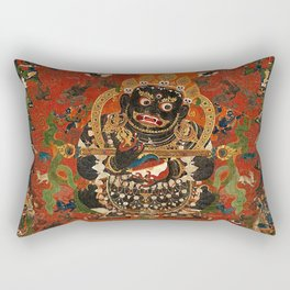 Vajrabhairava Buddhist God of Death 5 Rectangular Pillow