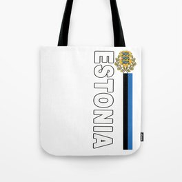 Estonia National Sports Jersey Style Tote Bag
