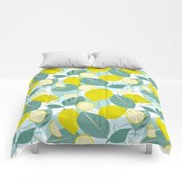 Lemons and Slices Comforters