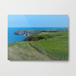 Yorkshire Coastal Path Metal Print