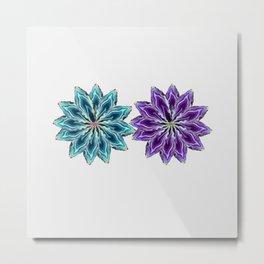 Agate flower spokes (two wheels) Metal Print