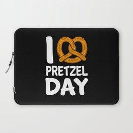 I Love Pretzel Day National Pretzel Day Laptop Sleeve