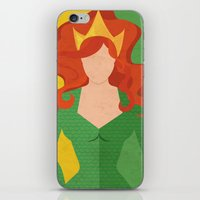 aquaman iPhone & iPod Skins featuring Mera by Loud & Quiet